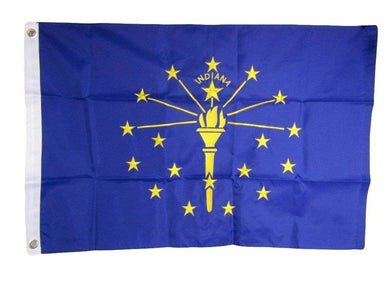 INDIANA 3'X5' EMBROIDERED 210D FLAG