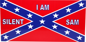 SILENT SAM CONFEDERATE MONUMENTS OFFICIAL BUMPER STICKER PACK OF 50 BUMPER STICKERS MADE IN USA WHOLESALE BY THE PACK OF 50!