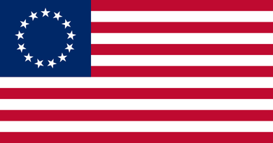 Betsy Ross Flag 3x5ft Nylon 210D embroidered