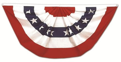 USA FAN BUNTING 3'X6' 210D NYLON AMERICAN FLAG FULL