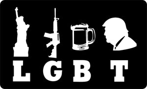 LGBT TRUMP BUMPER STICKER PACK OF 50