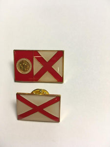 ALABAMA STATE FLAG Cloisonne Lapel Pins
