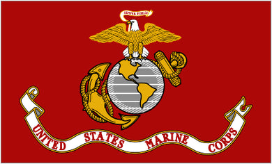 Marines Flag 2x3ft Nylon 210D Double-Sided USMC