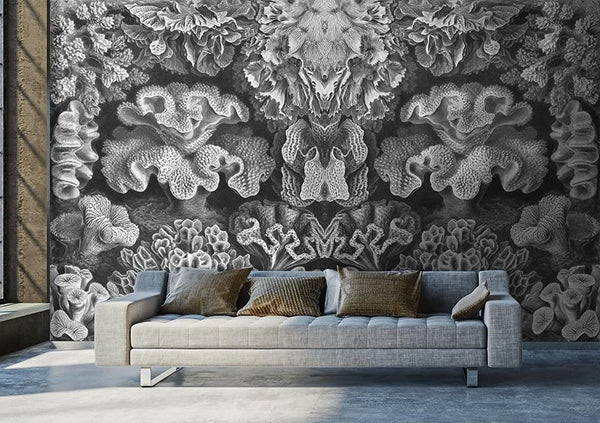 Coral Study Mural <br> Great Wall - Trendy Custom Wallpaper | Contemporary Wallpaper Designs | The Detroit Wallpaper Co.