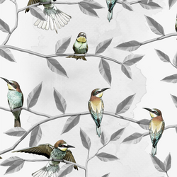 Bee Eater - Washed - Trendy Custom Wallpaper | Contemporary Wallpaper Designs | The Detroit Wallpaper Co.