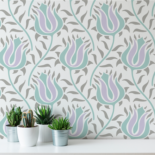 Budding - Slip - Trendy Custom Wallpaper | Contemporary Wallpaper Designs | The Detroit Wallpaper Co.