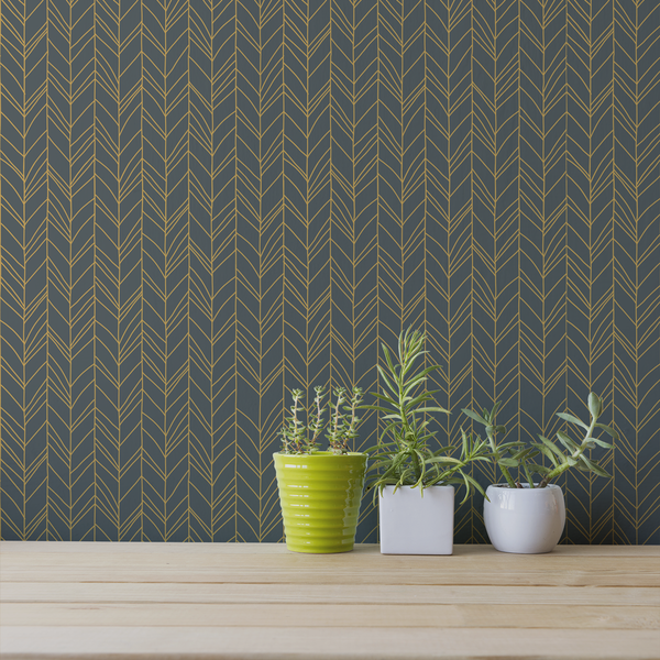 Hand Me Down - Thread - Trendy Custom Wallpaper | Contemporary Wallpaper Designs | The Detroit Wallpaper Co.
