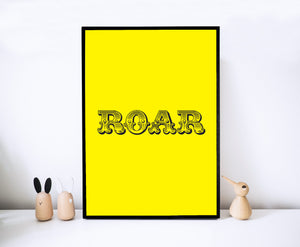 Roar Yellow Print