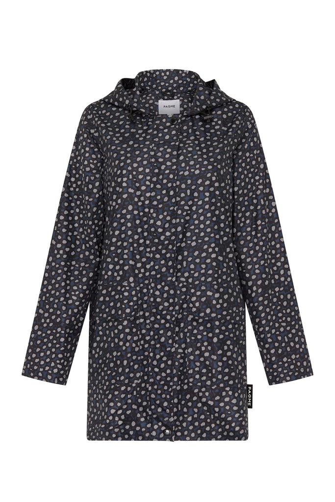 WOMENS '3/4 JACKET' RAINCOAT IN PEBBLE BLUE