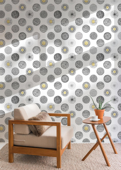 Geometric Wallpaper - Retro Circle Pattern
