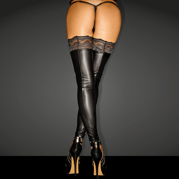 Power Wet look SUPERSTAR Stockings with Siliconed Lace