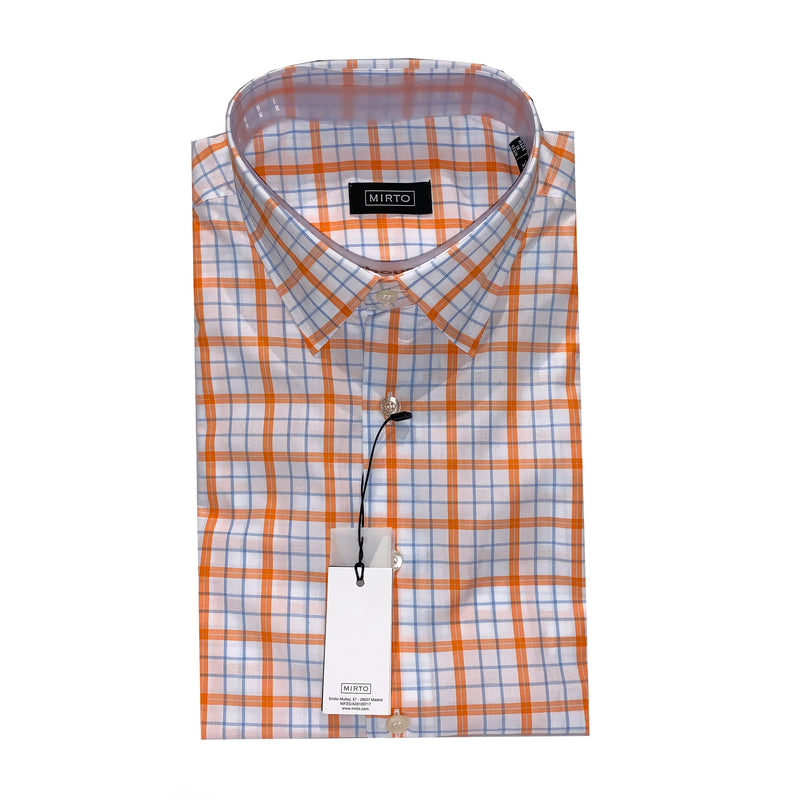 Mirto Plaid Shirt - White/Orange