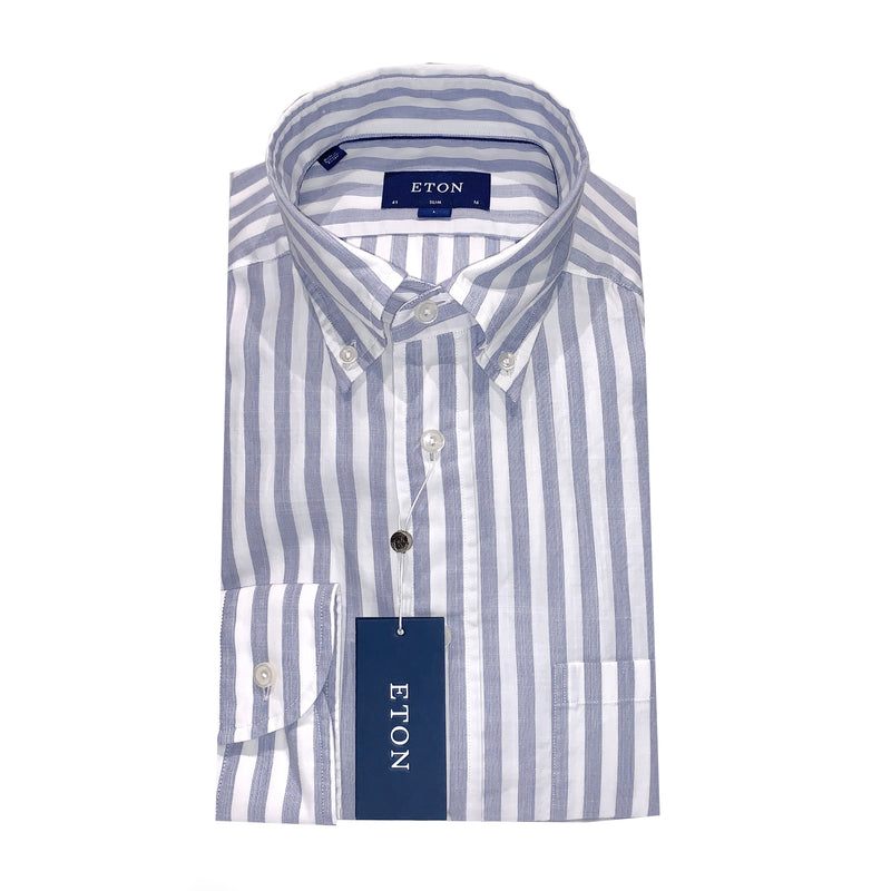 Eton Shirt - Blue Stripe