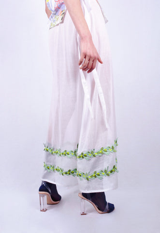 Olive Garland Maxi Skirt