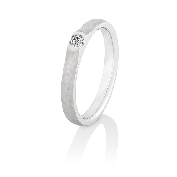 "Solitaire-Ring ""Vulkan"" mit 0,15ct. Diamant"