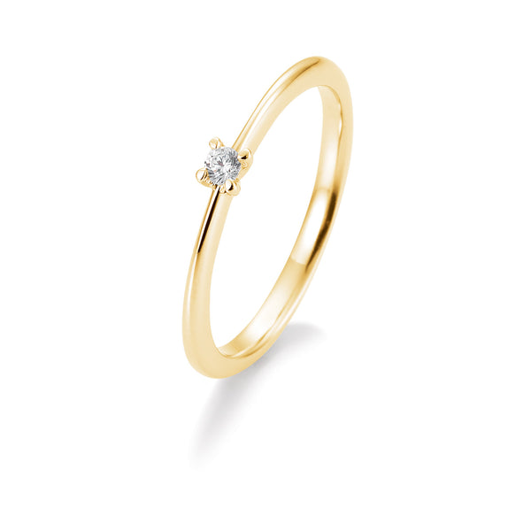 Solitaire-Ring · 4er Krappe · 0,10ct · 41056330