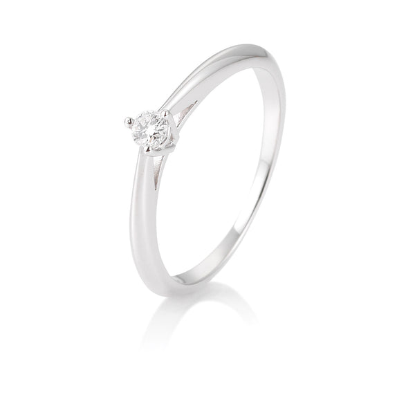 Solitaire-Ring · 3er Krappe · 0,10ct · 41858060