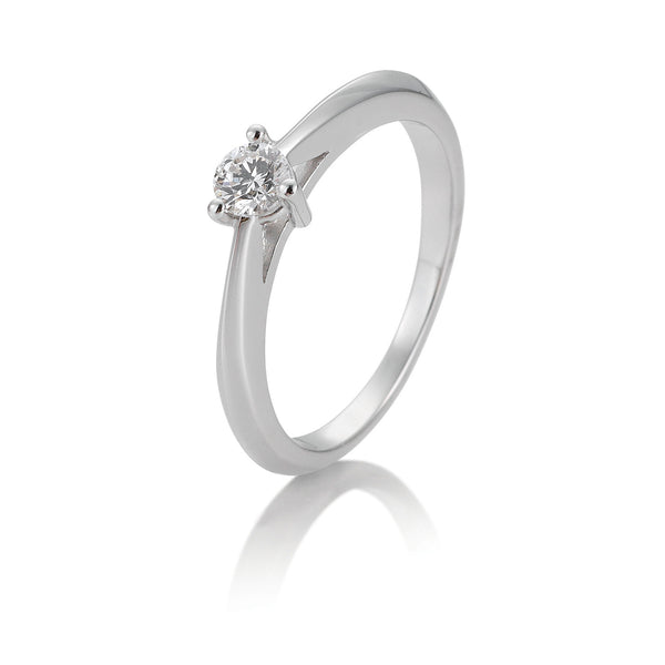 Solitaire-Ring · 3er Krappe · 0,25ct · 41866240