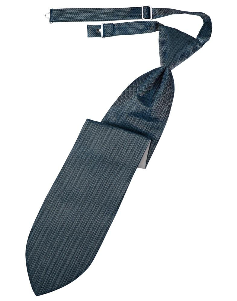 Haze Blue Herringbone Kids Necktie