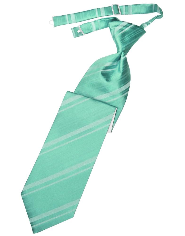 Mermaid Striped Satin Kids Necktie