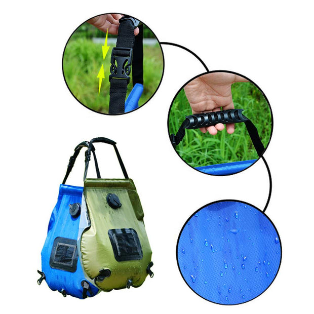 20L Solar Heated Portable Shower Bag w/ Hose - The Modern Travelers Store