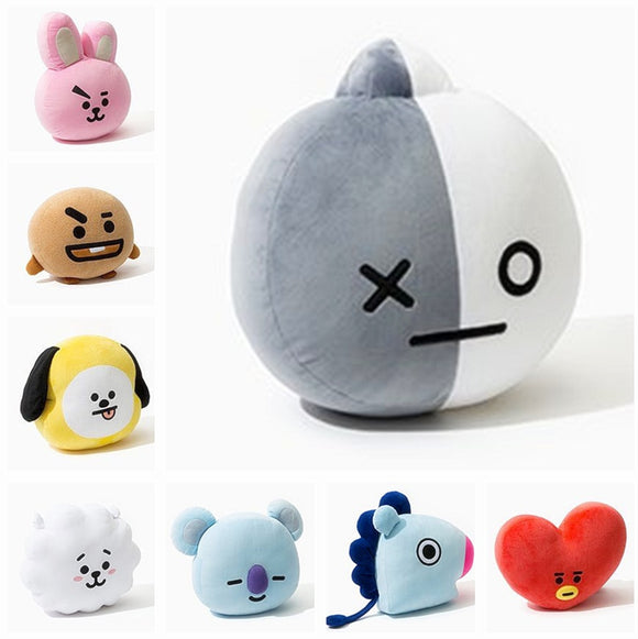New Kpop Bangtan Boys BTS bt21 Vapp Pillow Plush Cushion Warm Back Pillow Cartoon Dolls TATA VAN COOKY CHIMMY SHOOKY