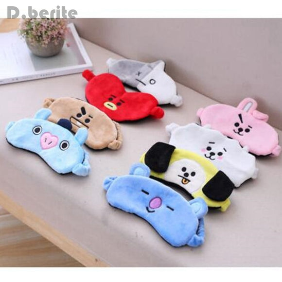New Kpop BTS Bangtan Boys Sleep Mask BT21 Suga TATA Chimmy RJ Cooky EyeShade Eye Masks Travel Rest Patch LDD9115
