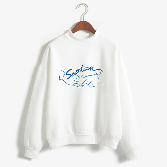 New Arrival Kpop Seventeen Concert Same Printing Autumn Fleece Sweatshirt Fashion Winter Pullover Thick Hoodies Drop Shipping