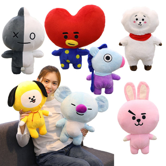 1pc 25/35/45cm Cute Bangtan Boys BTS bt21 Plush Toy TATA VAN COOKY CHIMMY SHOOKY KOYA RJ MANG Gift Pillow Cushion Children Gift