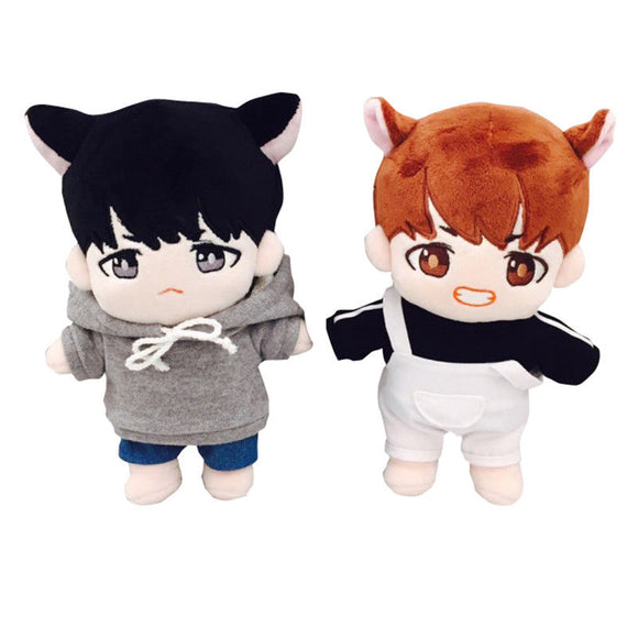 KPOP BTS Suga V Taetae Bangtan Boys  Plush Toy Stuffed Doll with Full Set Clothes Fan-made Gift Collection 23 cm / 9 inch