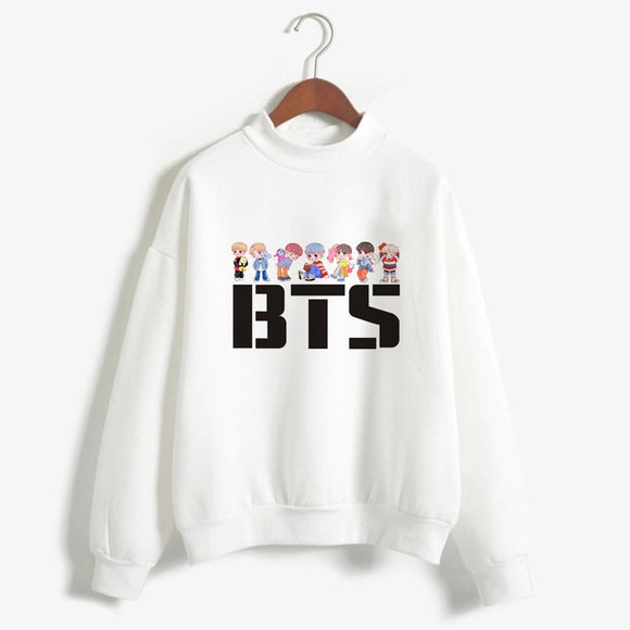 Women ARMY BTS Kpop Printed Hoodie Clothes BT21 Sweatshirts Korean Style Bangtan Boys Pullover Long Sleeve Shirts Ladies Tops