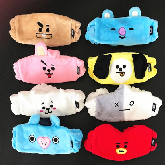 1PC Kpop BTS BT21 Cute Hair Band Tata Chimmy Cooky Wash Cleansing Headband Sweatband Gift For Unisex LTT9755