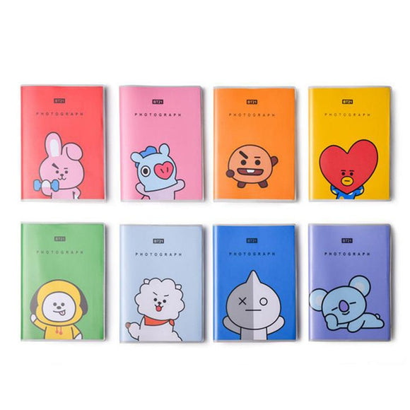 1 Pcs Kawaii BT21 Bangtan Boys PVC Cover Diary Travel Journal Book JIMIN V Cartoon Notebook Kpop BTS Official Korean Stars Gift