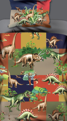 Dino Blocks Duvet Set