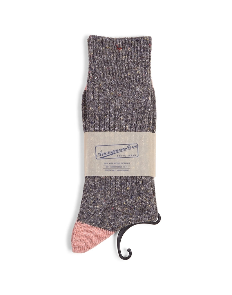 Anonymous - Ism Tweed Knuued Yarn Crew Socks Grey