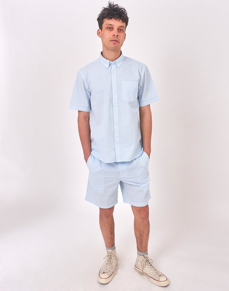 Carhartt WIP - Alder Short Sleeve Stripe Shirt Blue
