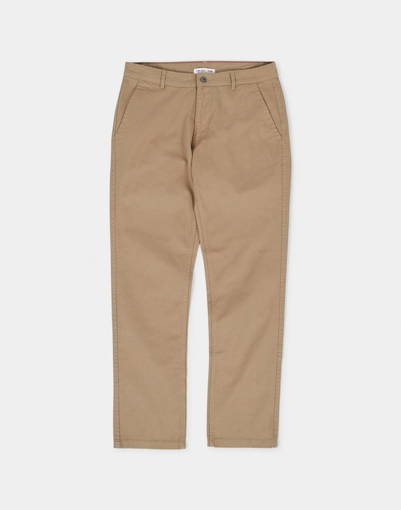 The Idle Man - Slim Fit Chino Stone