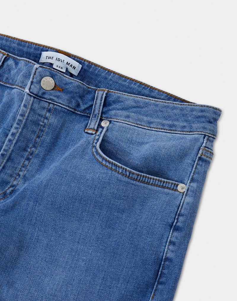 The Idle Man - Slim Fit Jeans Stone Wash