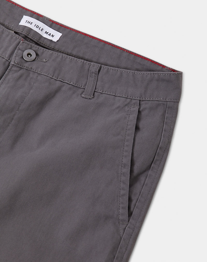 The Idle Man - Straight Leg Chino Grey