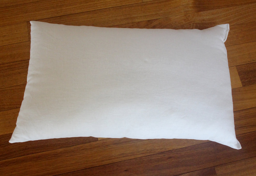 Organic wool sleeping pillow