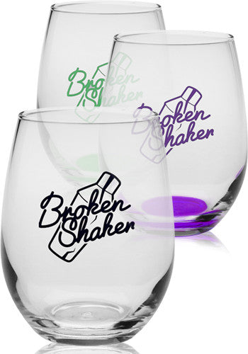 9 oz. Libbey Stemless Wine Glasses - Apartment Promotion
