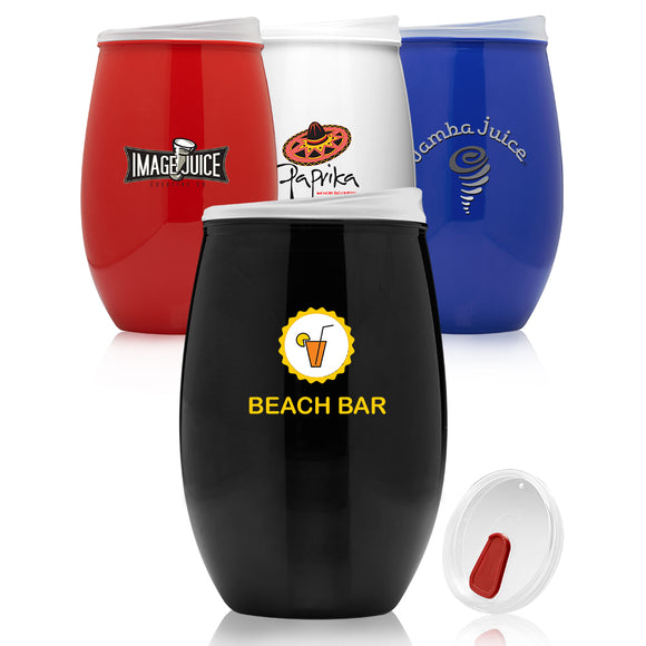 16oz Plastic Stemless Wine Glass - Apartment Promotion
