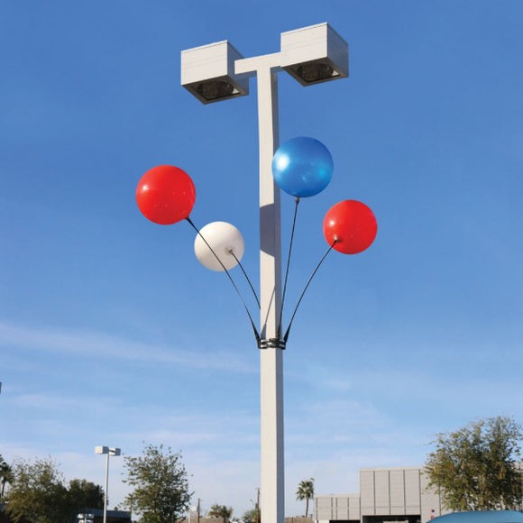 Premium 4-Balloon Light Pole Kit - Apartment Promotion