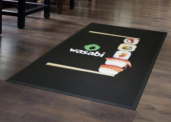 Door Mat - Rubber Scrape Digital Print - Apartment Promotion