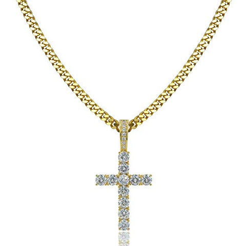 *FREE* Iced Cross Pendant + Chain