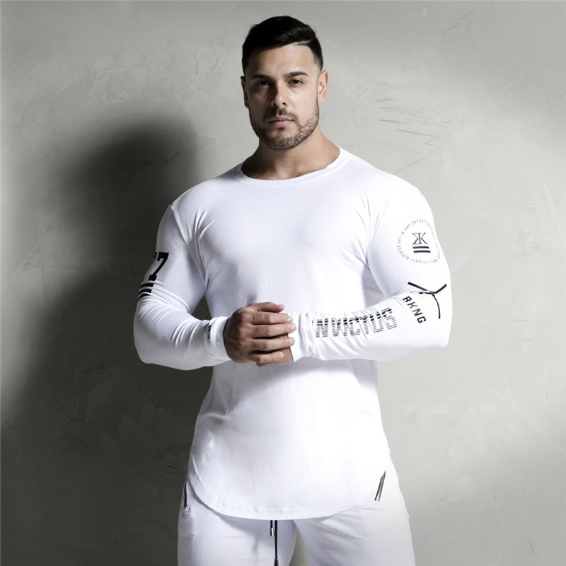 2018 New Men Long sleeves Elasticity Tight t shirts muscle Man Gyms Fitness Bodybuilding Jogger Brand clothing Plus size M-XXXL - GTG