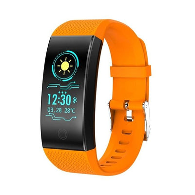 QW18 Intelligent Bracelet Measuring Heart Rate Pedometer Waterproof For Android IOS - GTG