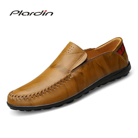 2018  Fashion Leather Casual Sewing Super fiber men shoes - GTG