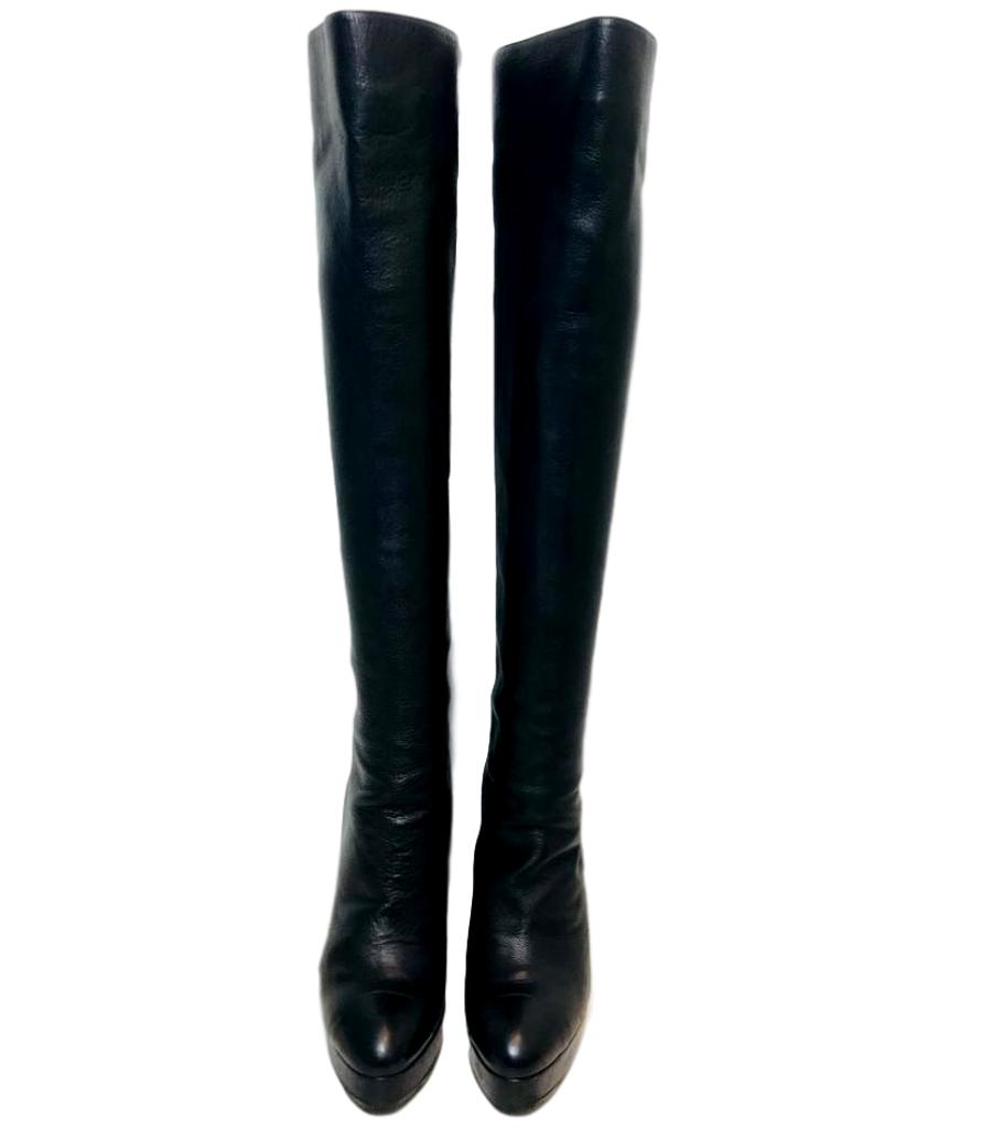 Chanel Over Knee Boots. Size 39