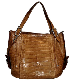 "Tod's Alligator Skin ""G"" Shopper Bag"